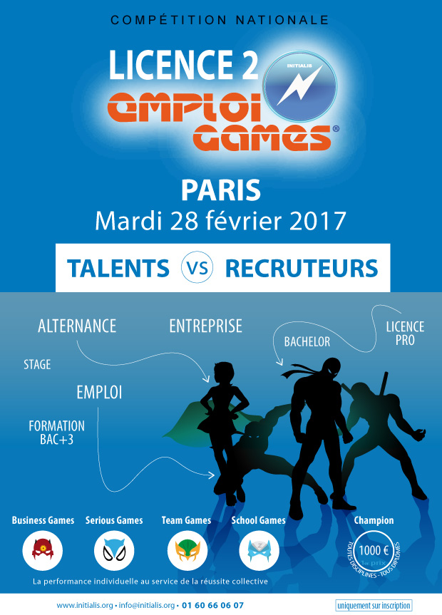 LICENCE 2 SERIOUS GAMES 2017 - Forum Emploi Initialis