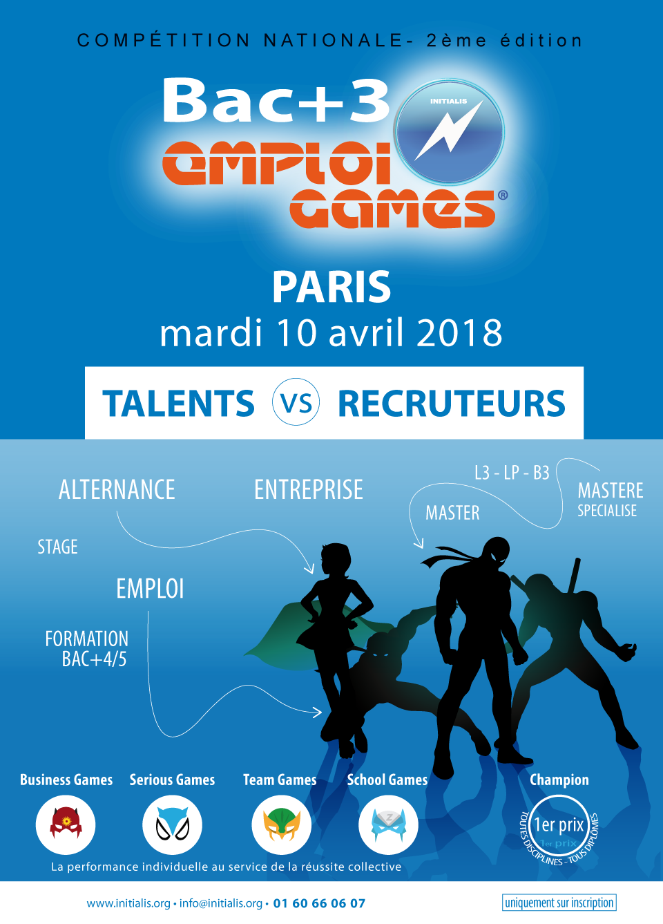 LP, L3, B3, Licence, Bachelor, Bac+3 EMPLOI SERIOUS GAMES INITIALIS