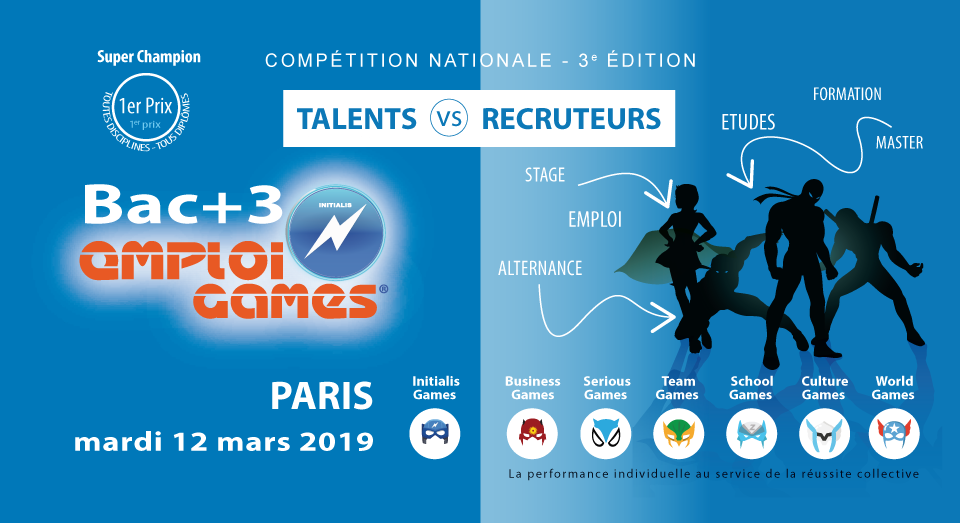 LP, L3, B3, Licence, Bachelor, Bac+3 EMPLOI GAMES INITIALIS